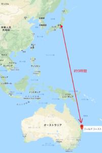 成田からゴールドコーストへの直行便のイメージ画像