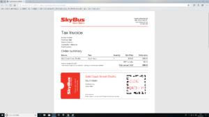 Skybus搭乗券 パソコン印刷用