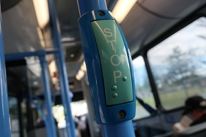 バス内にある「バス降車合図ボタン」