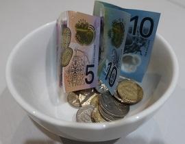 実際の現金(オーストラリアドル)