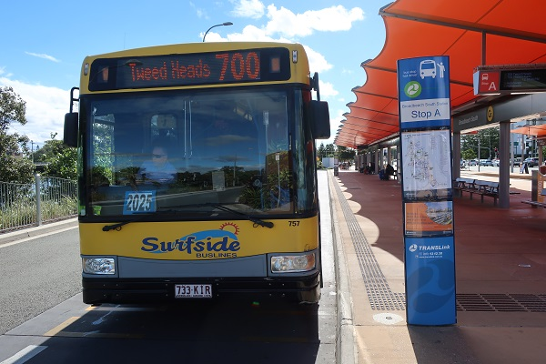 700番のバスの実物写真
