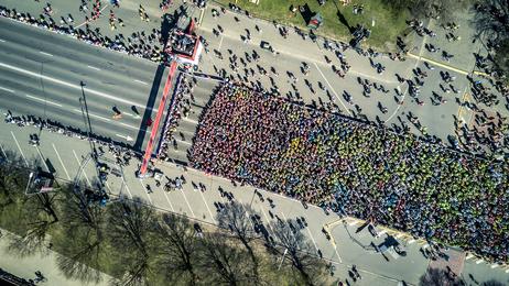 マラソンスタート時間の様子