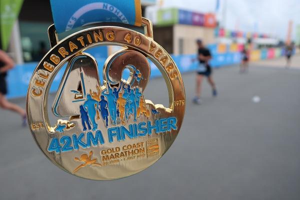 ゴールドコーストマラソン完走メダル