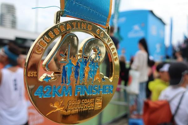 ゴールドコーストマラソンフィニッシャーメダル