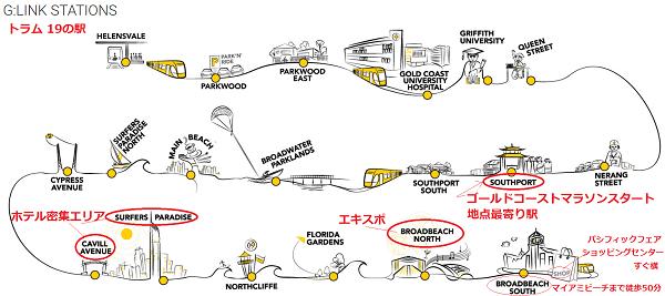 トラムの駅一覧表